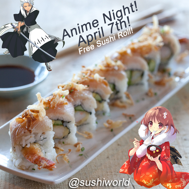 Anime Night Free Sushi Roll Orange County OC Cypress Dress Up Spirited Away