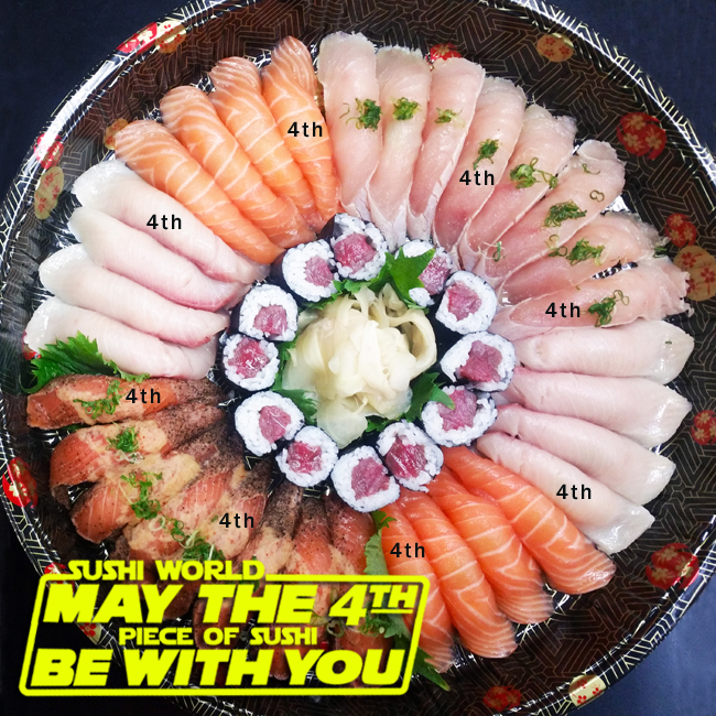 May the 4th Fourth Piece of Sushi Be With You Star Wars Holiday Sushi Party Platter