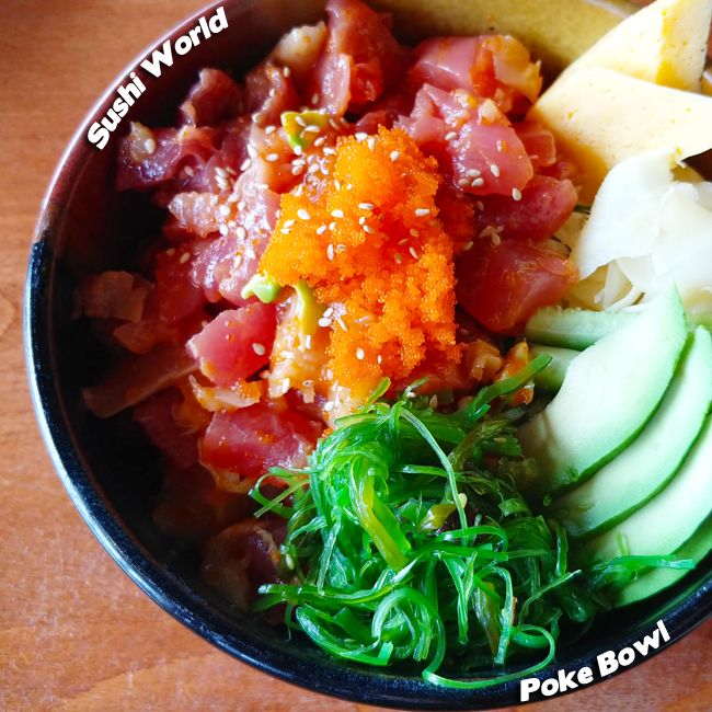 Hawaiian Tuna Poke BIG EYE TUNA | ALBACORE | MARINATED SEAWEED | POKE DRESSING