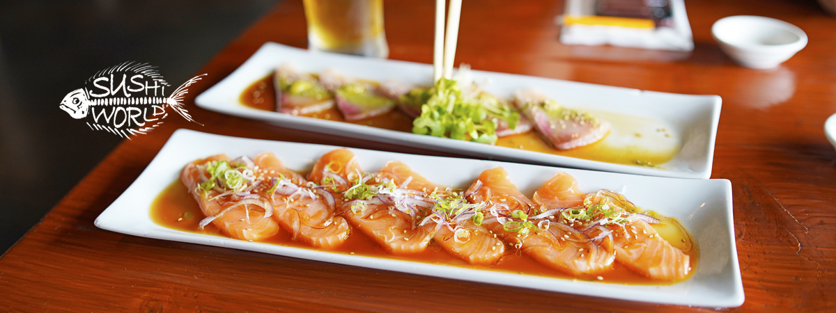 Orange County Sushi World OC Jalapeno Yellowtail & Salmon Carpaccio