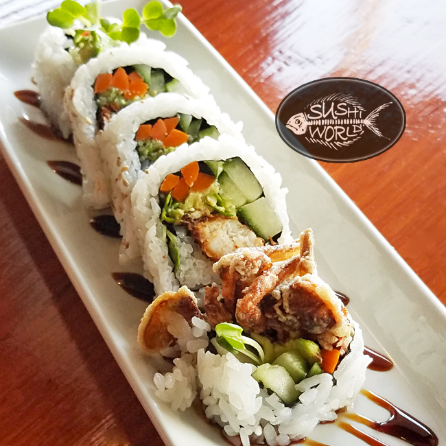 Spider Roll Orange County Sushi World Cypress soft shell crab delicious best of oc