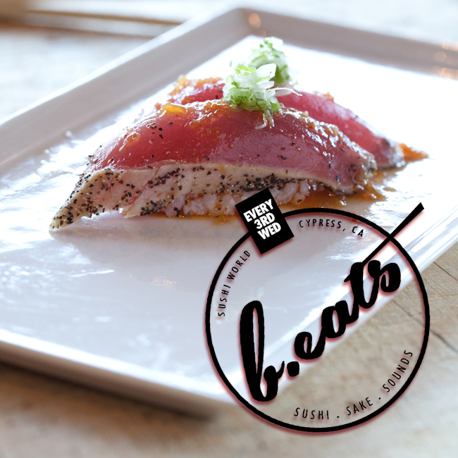 Seared Big Eye Tuna Sushi Nigiri beats Union Station Radio DJ Ryan Live Ayebert A1