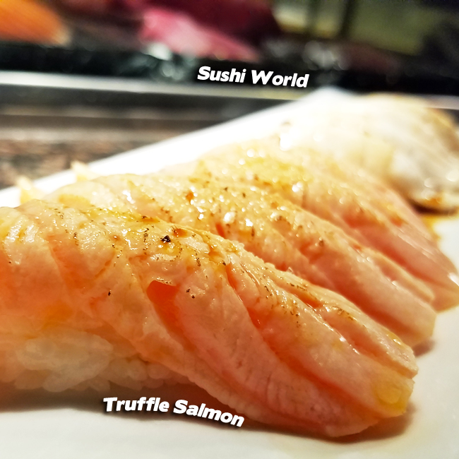 Truffle Salmon Specials Board Sushi Bar Orange County OC Oil