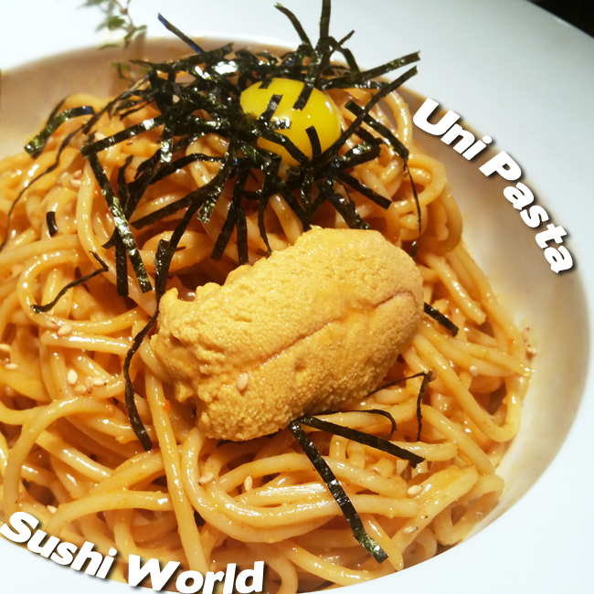 Uni Pasta Rich Buttery Quail Egg Yolk Flavorful To Die For Sushi World Orange County OC