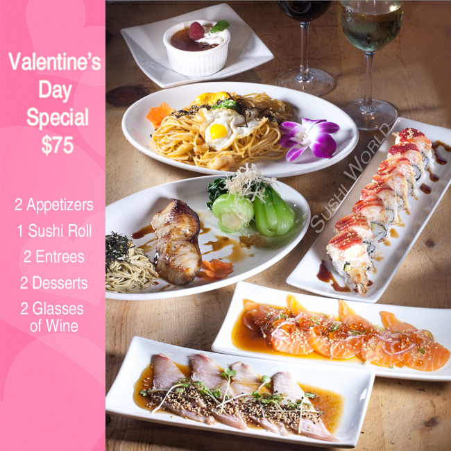 Orange County Sushi Valentine's Day Dinner Uni Pasta Seared Hamachi Albacore OC Cypress