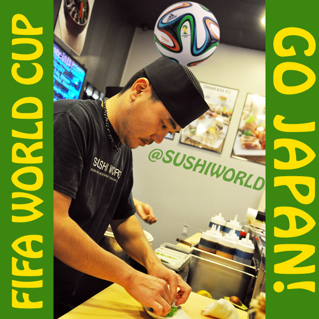 FIFA World Cup Sushi Chefs Go Japan Orange County OC Cypress Stanton Garden Grove Anaheim Sushi World