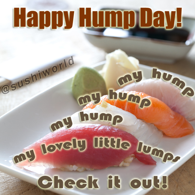 My Humps Lovely Little Lumps of Sushi Tuna Salmon Red Snapper Orange County OC Cypress Sushi World