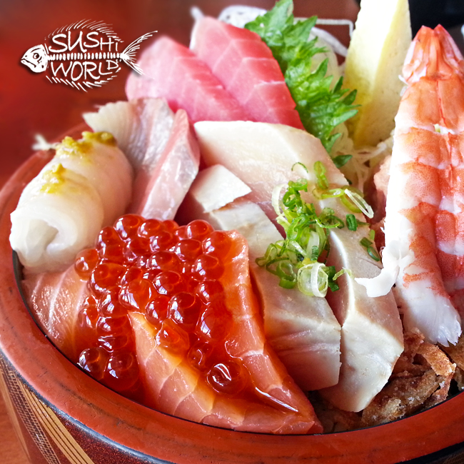 Chirashi Bowl Best Orange County OC Tuna Salmon Red Snapper Sushi World