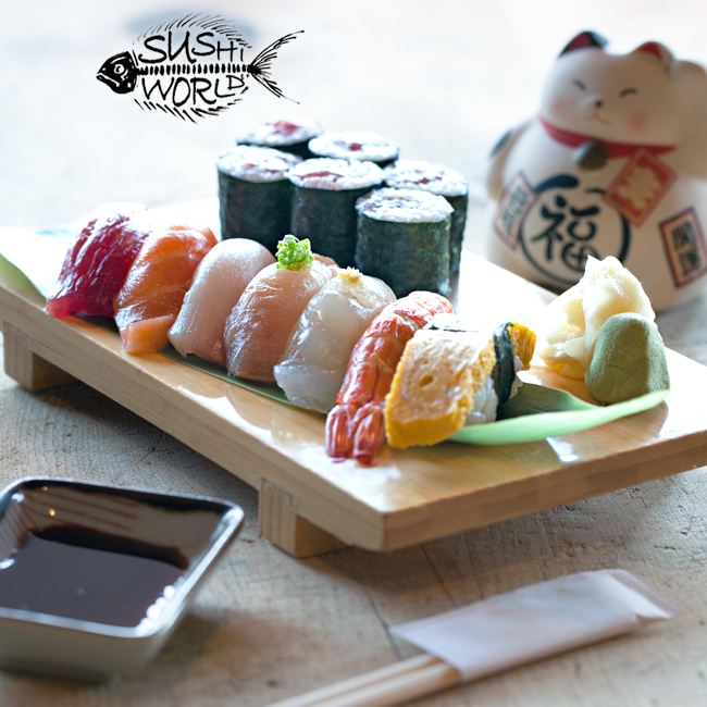 Orange County Sushi OC Combo Lunch Resolution New Years Eat Healthy Fish