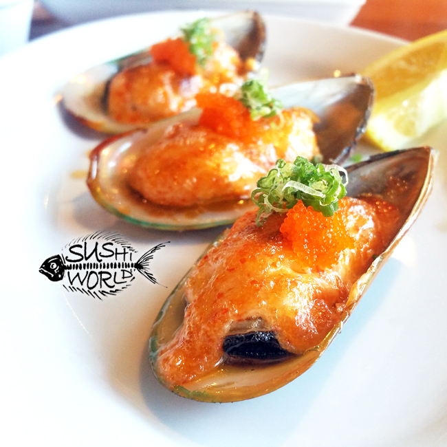 Baked Mussels Happy Hour All Day Tuesdays Appetizers Orange County Cypress Sushi World OC