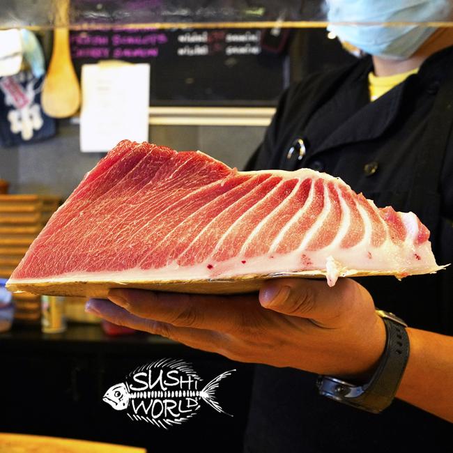 Bluefin Tuna Toro Sashimi Sushi 200 lb Orange County OC Sushi Chef