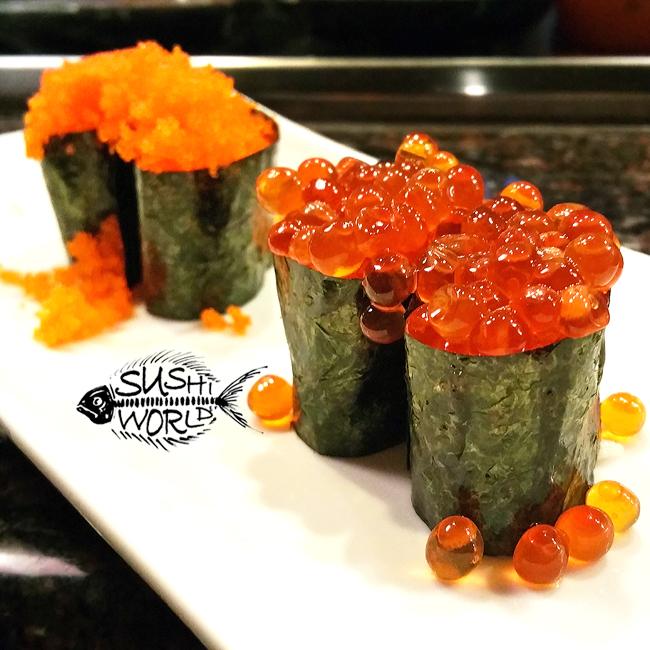 Masago vs Ikura Roe Salmon Sushi World Orange County OC Pop in Your Mouth