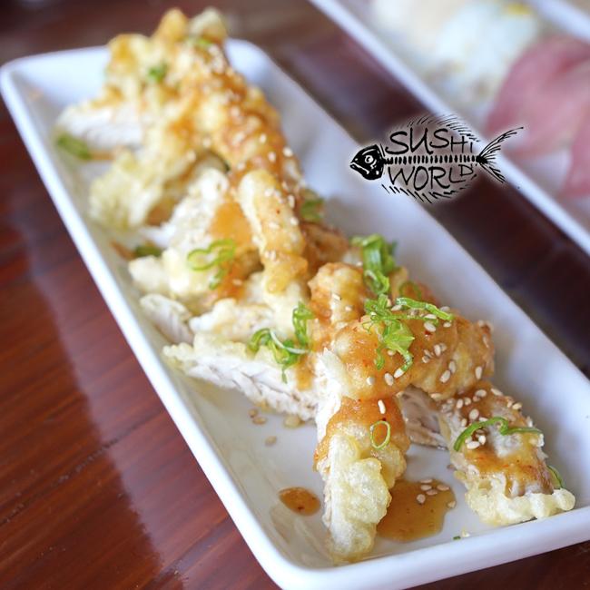 KFC Tempura Albacore Garlic Ponzu Fish Tastes Like Chicken Orange County OC Sushi World