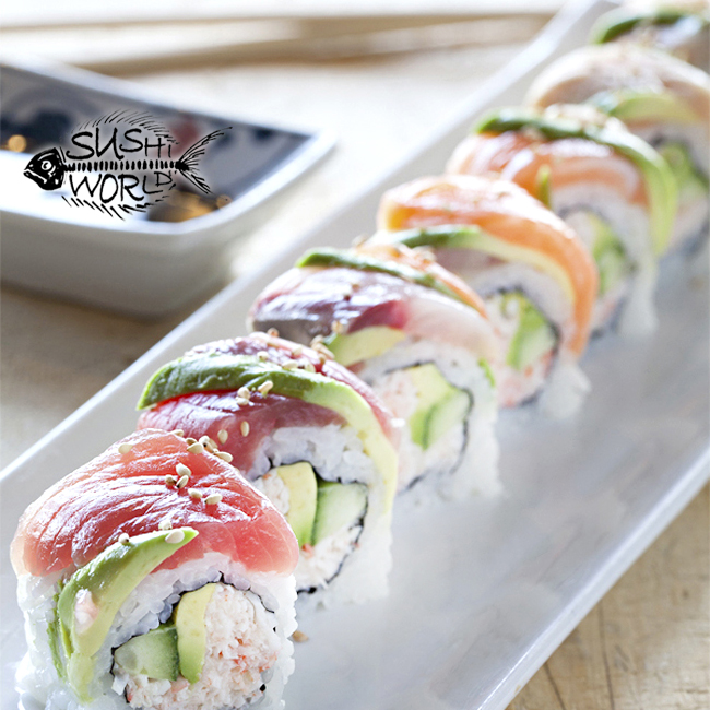 california roll tuna salmon yellowtail red snapper shrimp avocado