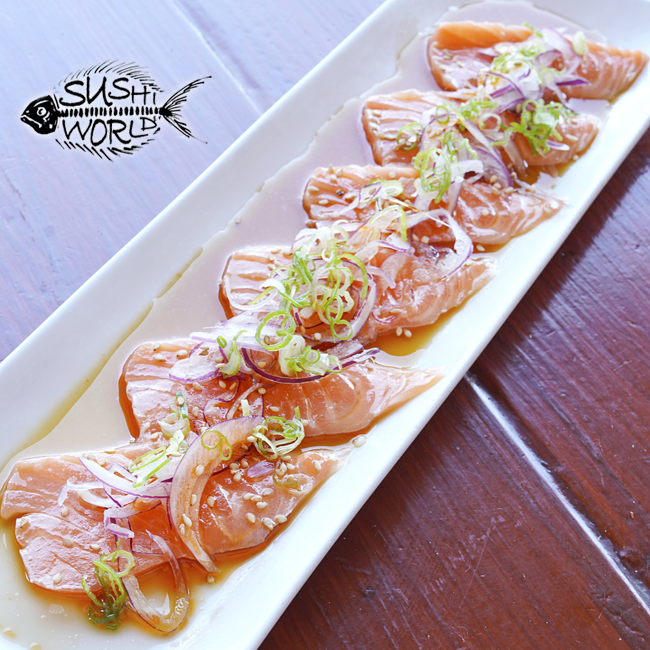 Truffle Salmon Carpaccio Low Carb No-Carb Cypress Orange County OC Sushi World