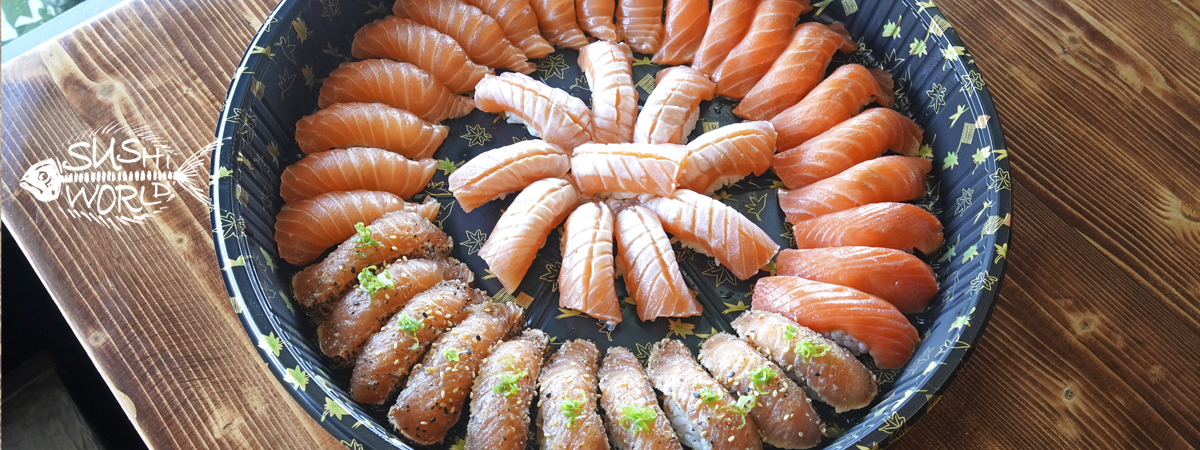 OC Sushi Orange County Party Platter Catering Salmon Peppered Truffle Cherry