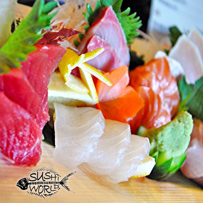 Sashimi Sampler Carb Free Zone Albacore Red Snapper Tuna Salmon Yellowtail Sushi World Orange County OC