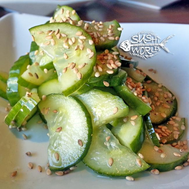 Sunomono Cucumber Salad Appetizers Happy Hour All Day Cypress Orange County OC Sushi World