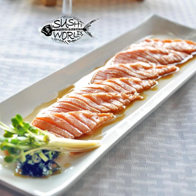Truffle Salmon Carpaccio Delicious Best in OC Orange County Cypress Sushi World