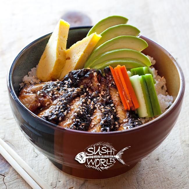 Unagi Bowl Best in Orange County OC Sushi Sashimi Baked Eel Eat Healthy