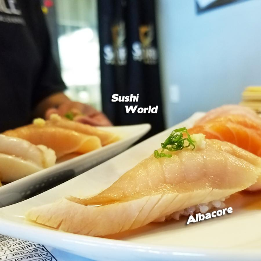 Orange County Best Happy Hour All Day Tuesdays Albacore Peppered Salmon Sushi World Cypress