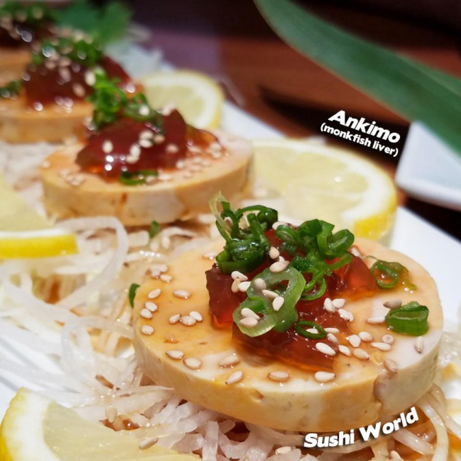 Ankimo Monkfish Liver Happy Friday Orange County Sushi World OC