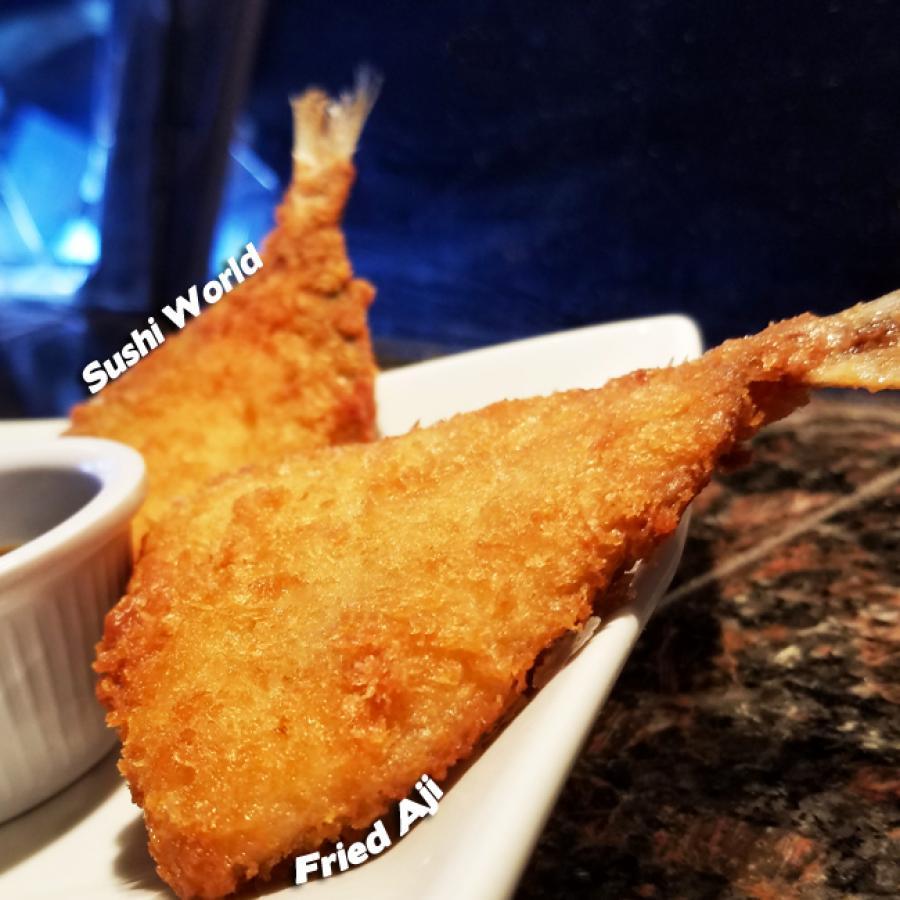 Fried Aji Japanese Mackerel Ponzu Sauce Appetizer Best Happy Hour Orange County OC Sushi World