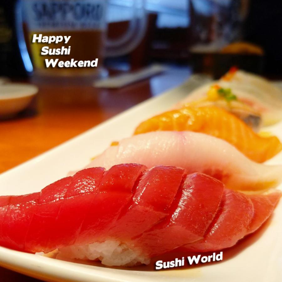 Bluefin Tuna Sushi Lineup Yellowtail Salmon Weekend Platter Party