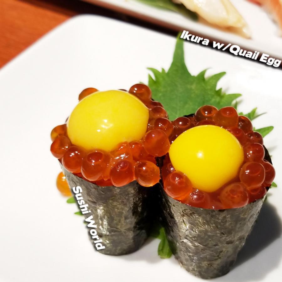 Ikura Salmon Roe Quail Egg Sushi World Orange County OC Cypress