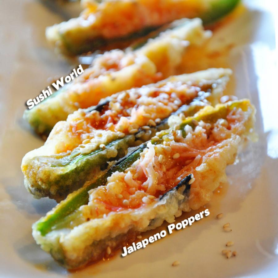 Jalapeno Poppers Appetizers Orange County Sushi World OC