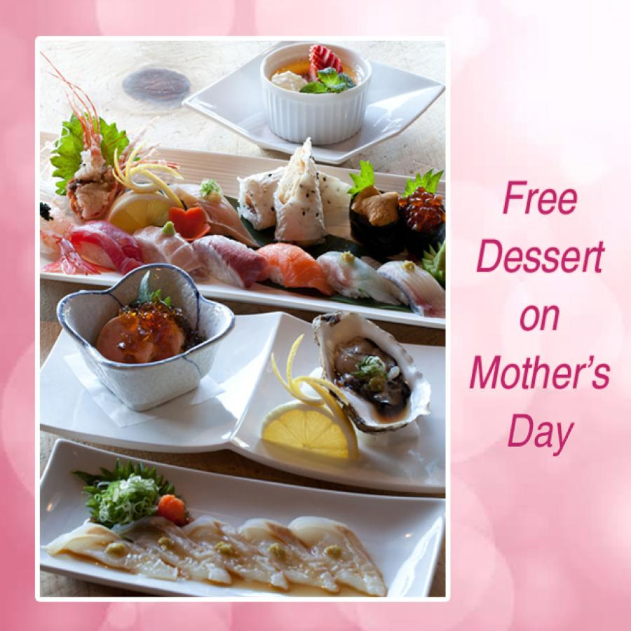 Free Dessert Mother's Day Prix Fixe Meal Orange County OC Sushi World
