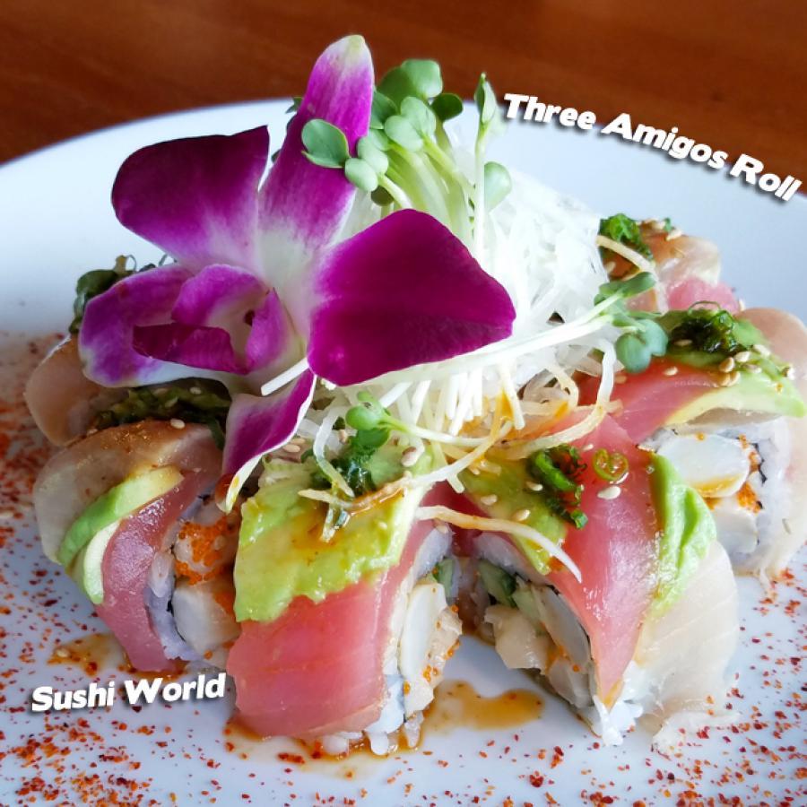 Three Amigos Roll Orange County Sushi Rolls Creative OC Weekly