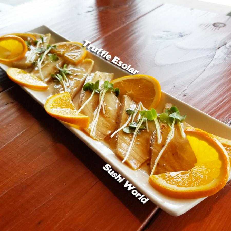 Truffle Escolar Orange Slices No Carb Sushi World Orange County OC