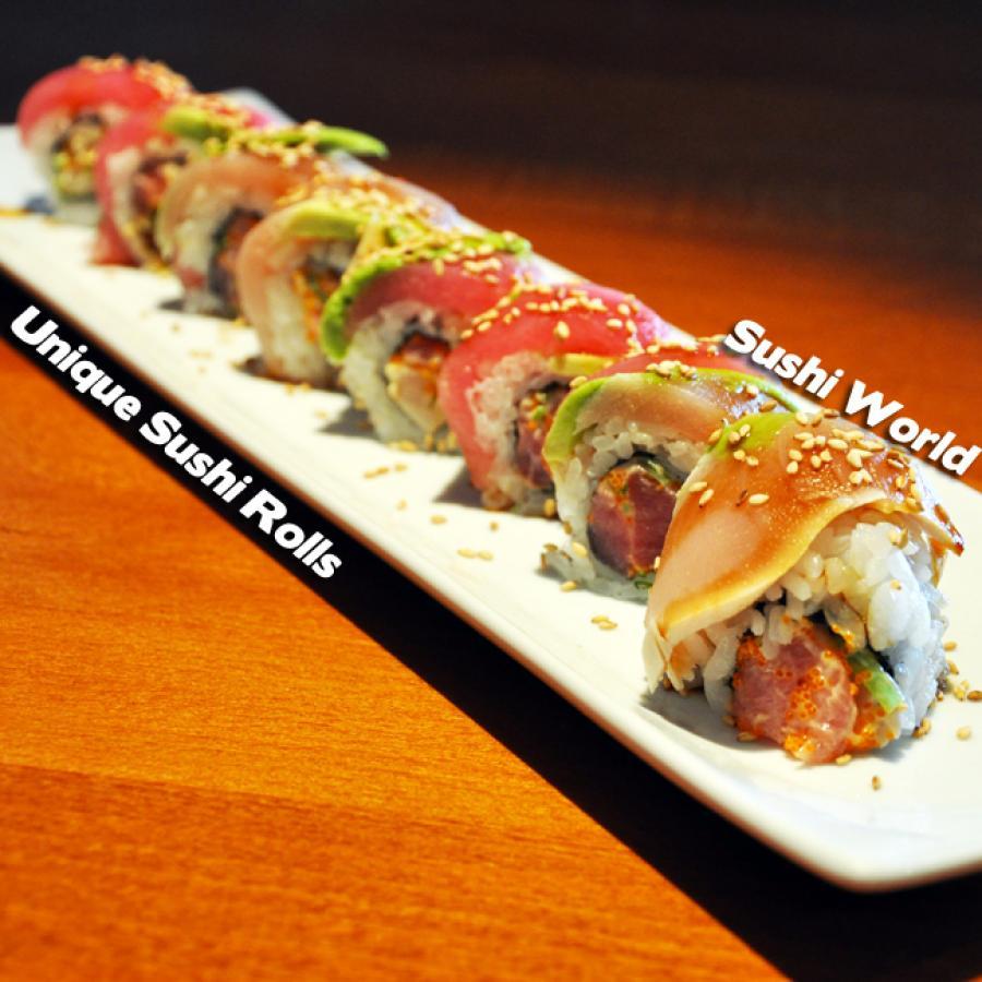 Unique Custom Sushi Rolls Orange County OC Creative Sushi Chefs Sushi World