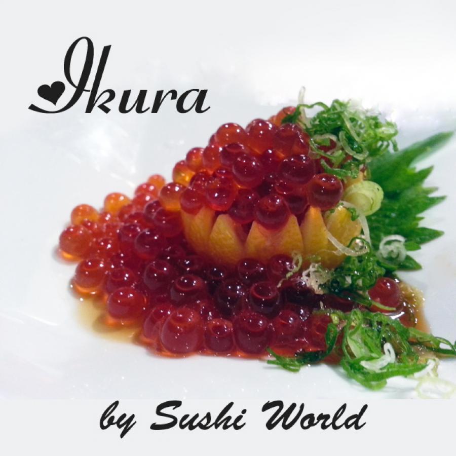 Ikura Orange County OC Cypress Green Onions Ponzu Lemon Salmon Roe Sushi World