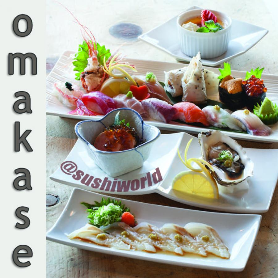 Omakase Oyster Ankimo Monkfish Liver Creme Brulee Uni Baked Blue Crab Roll Orange County OC Sushi World