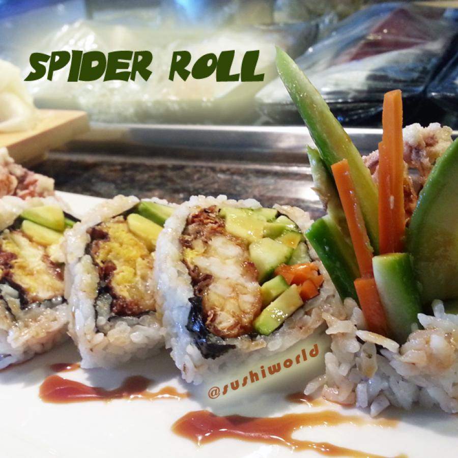 Spider Roll Softshell Crab Cucumber Avocado gobo radish Orange County OC Sushi