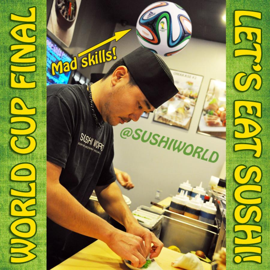 World Cup Final Talented Sushi Chefs Futbol Soccer Cypress Orange County OC Sushi World