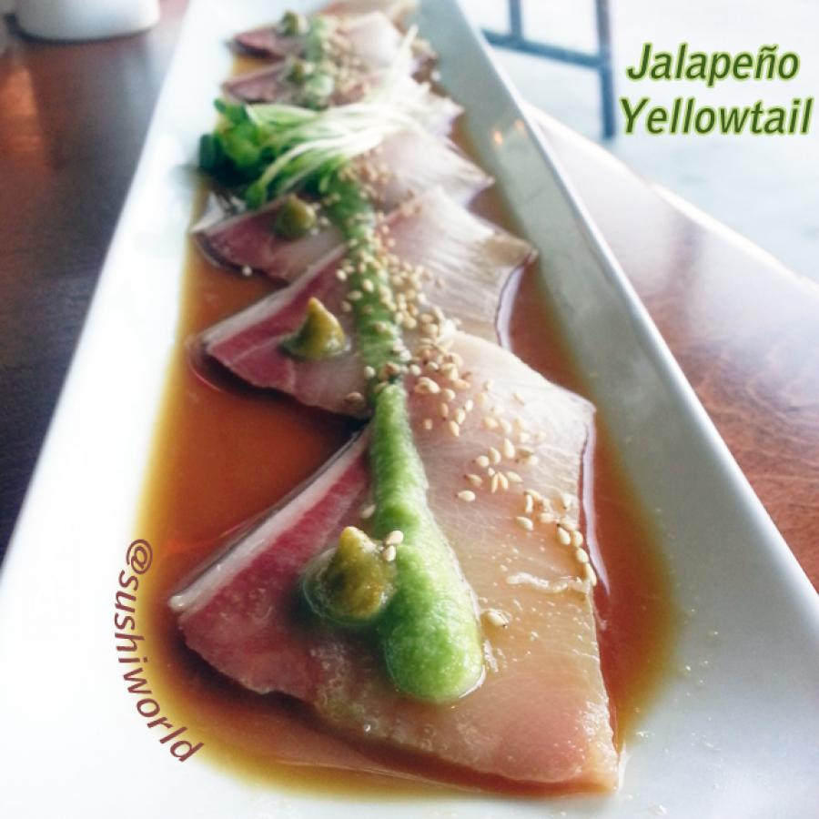Jalapeno Yellowtail Sauce Ponzu Sesame Seeds Yuzu Orange County OC Sushi World