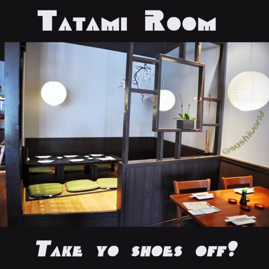 Tatami Room Orange County OC Cypess Sushi World Japanese Restaurant Cuisine