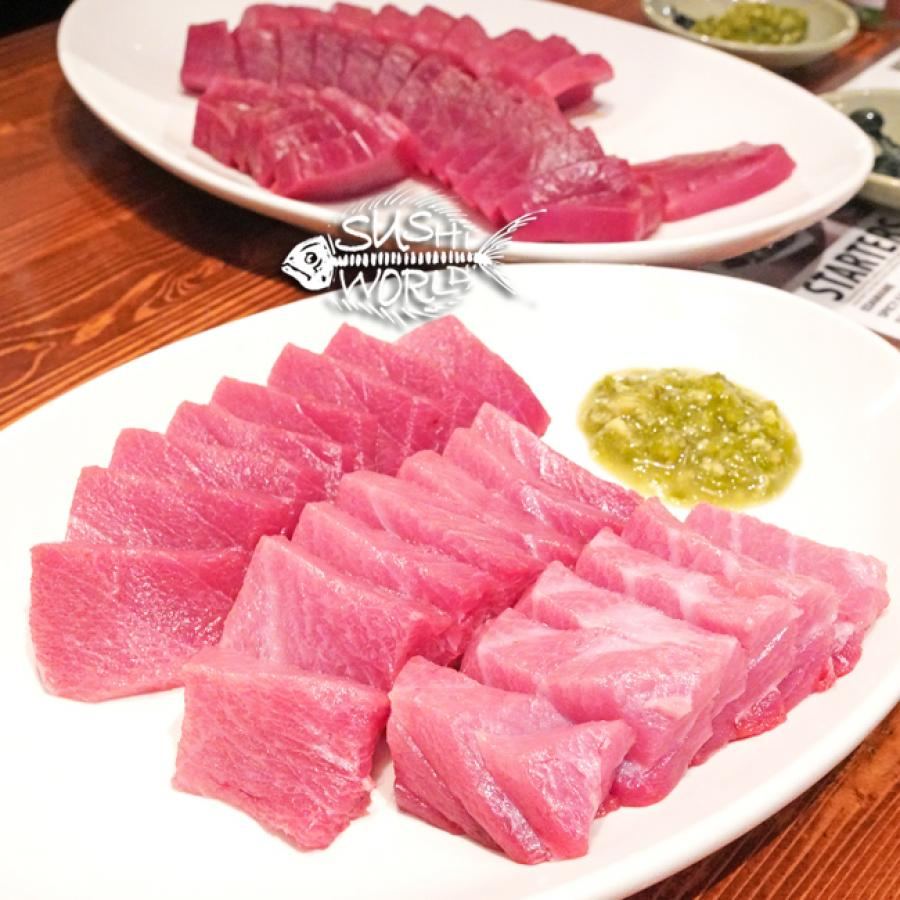 Bluefin Toro Sashimi Tuna Fatty Belly Yummy Orange County Sushi World OC