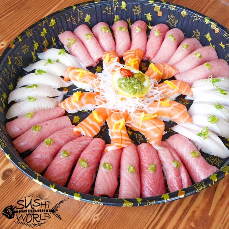 Fatty Belly Sushi Platter Bluefin Toro Yellowtail Belly Salmon Ultimate Orange County Party Catering