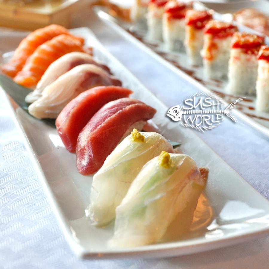 Red Snapper Bluefin Tuna Salmon Yellowtail Omakase Orange County OC Sushi World