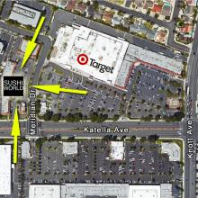 Cypress Map Sushi World Near Target Knott Katella Orange County OC