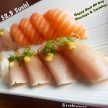 Best Happy Hour OC Orange County Albacore Salmon Cypress Sushi World