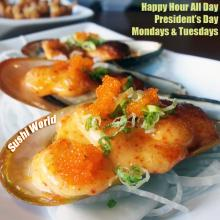 Baked Mussels Best Happy Hour OC Orange County Sushi World Appetizers