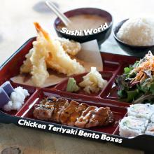 Chicken Teriyaki Bento Boxes Orange County OC Best Sushi World Sashimi