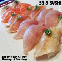 Orange County's Best Happy Hour All Day Mondays Tuesdays Escolar Yellowtail Orange County OC Sushi World