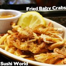 Fried Baby Crabs Perfect Snack Appetizers like Fries Sushi World Orange County OC