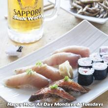 Orange County Best Happy Hour OC Peppered Salmon Albacore Yellowtail Sushi World Cypress